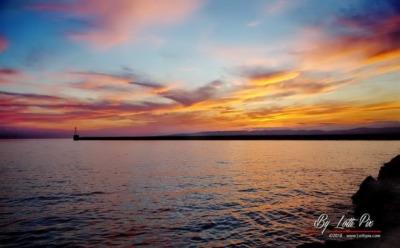 Sunset sur la jetté